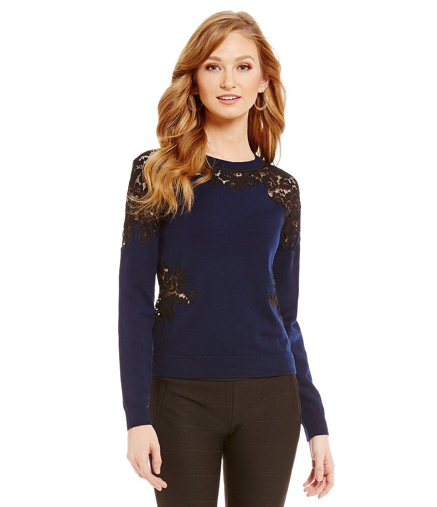 Katherine Kelly Melissa Lace Knit Top