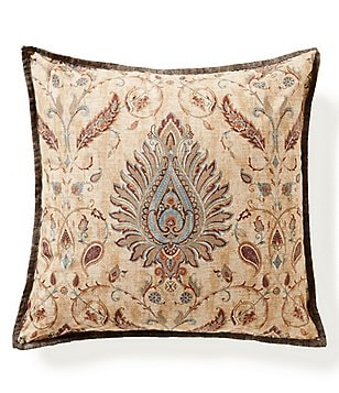 Villa by Noble Excellence Savino Medallion Tapestry Square Pillow