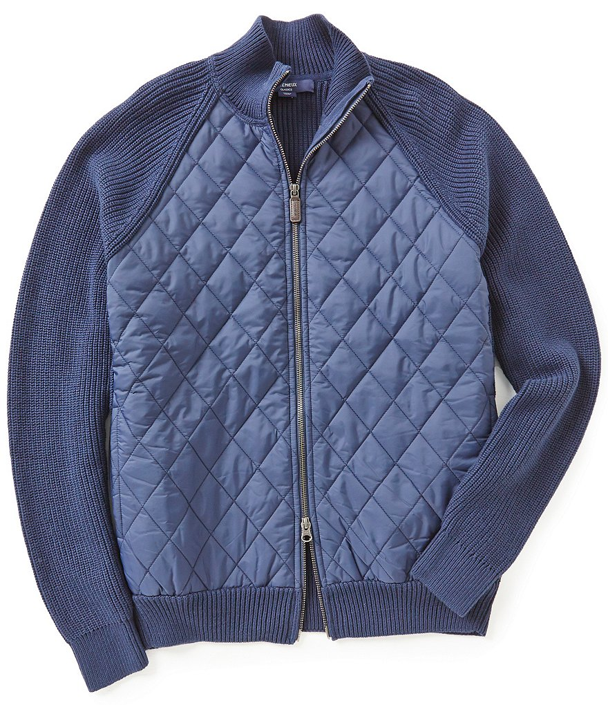 Cremieux Quilted Front Sweater Jacket