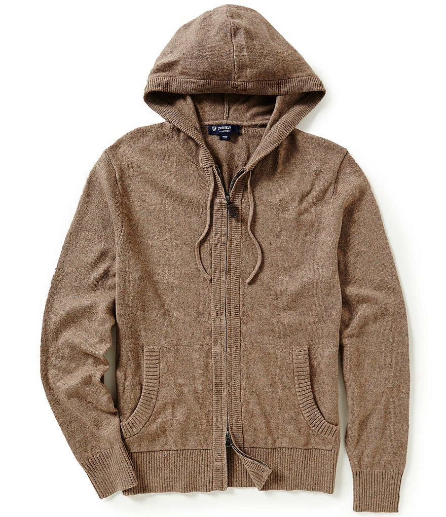 Cremieux Highland Peaks Collection Wool Hooded Sweater