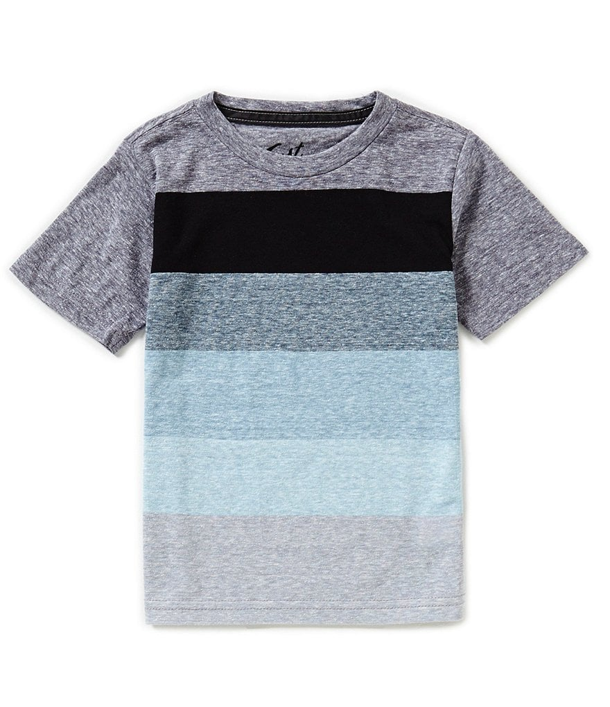 First Wave Little Boys 2T-7 Chest Stripe Short-Sleeve Tee