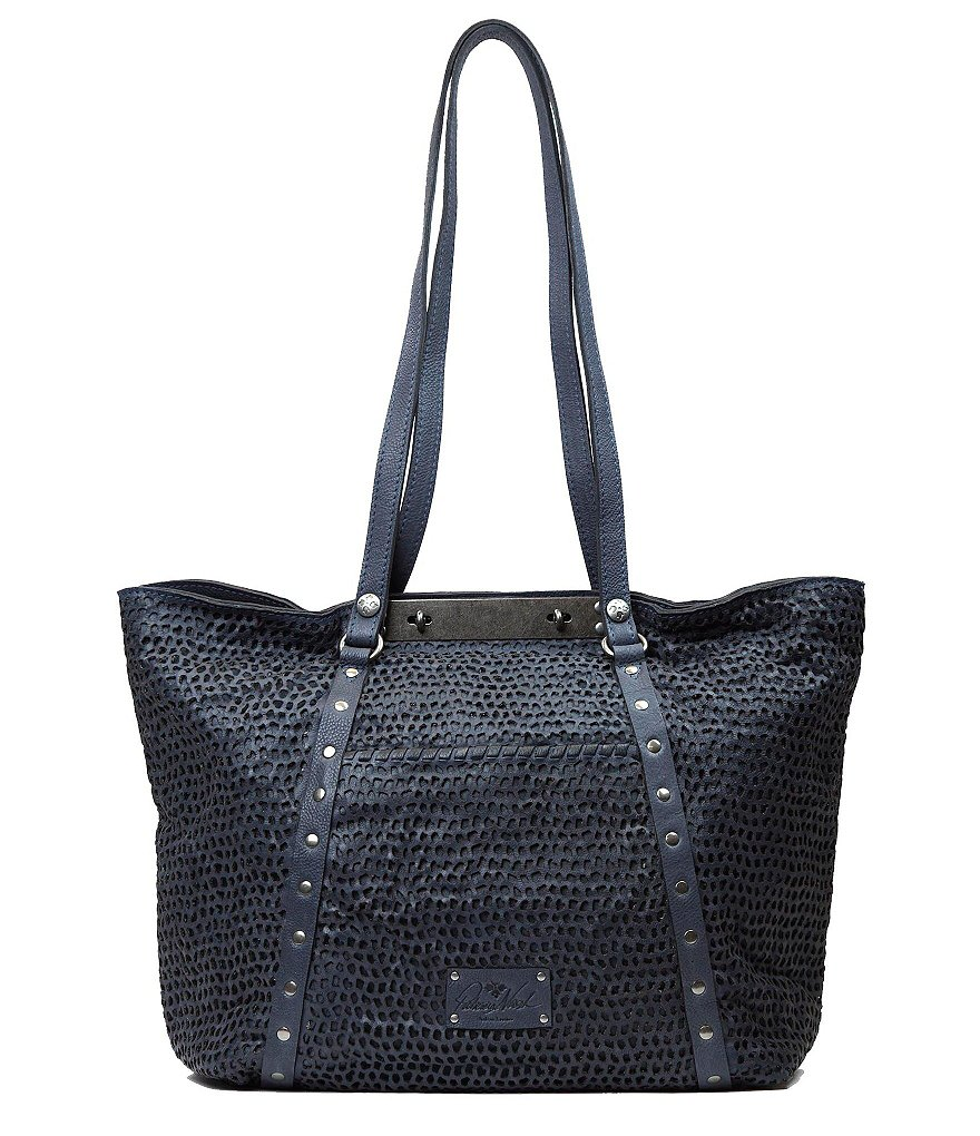 Patricia Nash Washed Mesh Collection Benvenuto Italian Leather Tote