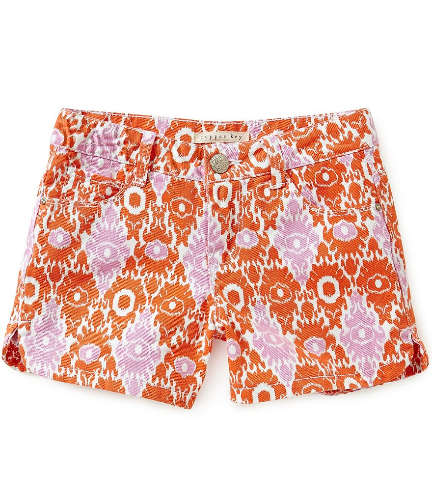 Copper Key Big Girls 7-16 Printed Twill Shorts