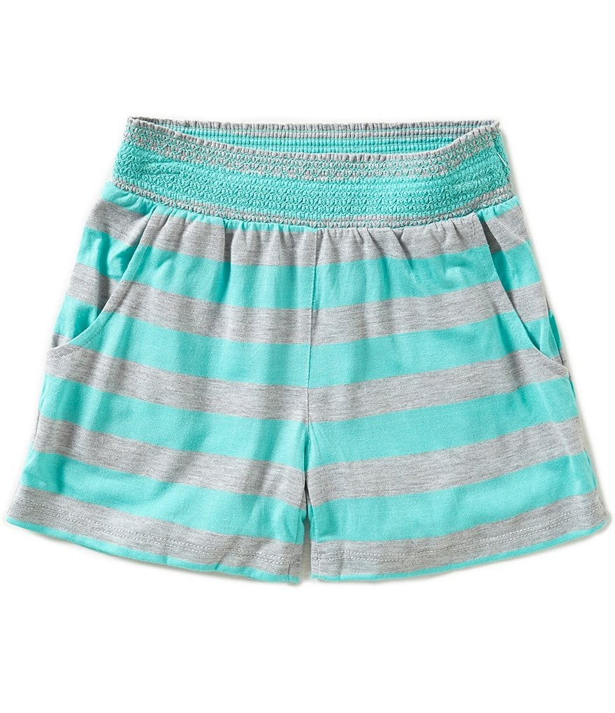 Copper Key Big Girls 7-16 Striped Soft Shorts