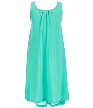 Copper Key Big Girls 7-16 Ruffle Back Knit High-Low Hem Swing Dress