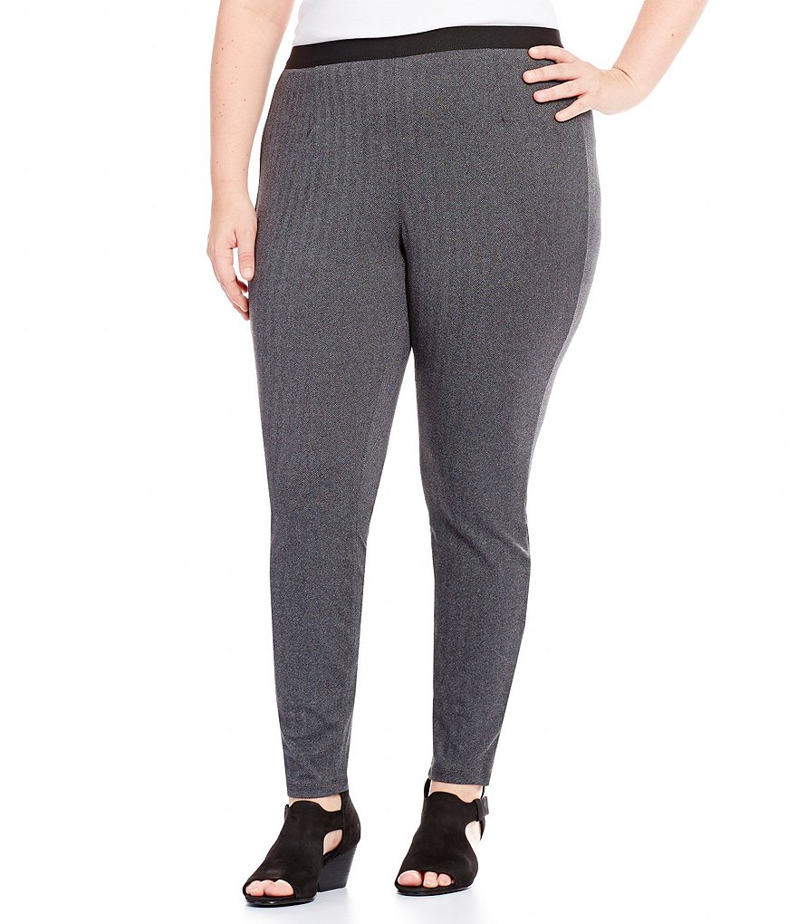 Eileen Fisher Plus Herringbone Jeggings