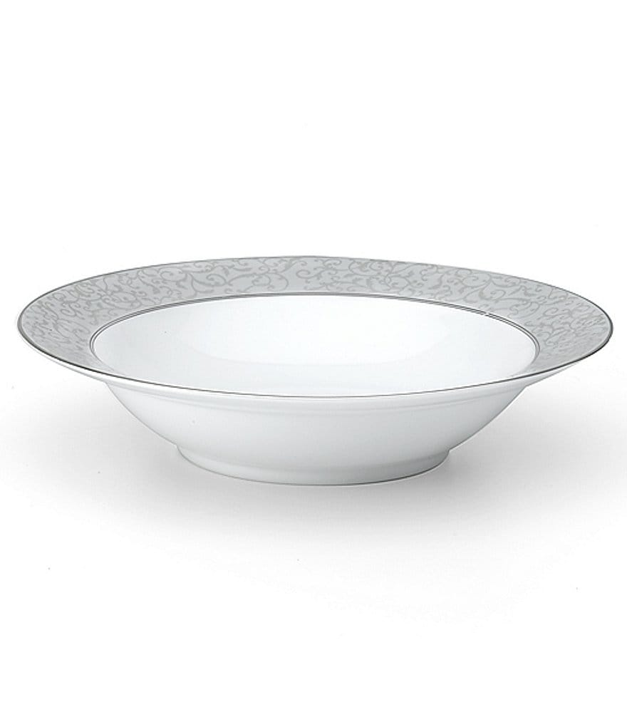 Mikasa Parchment Ivy Scroll Platinum Porcelain Vegetable Bowl