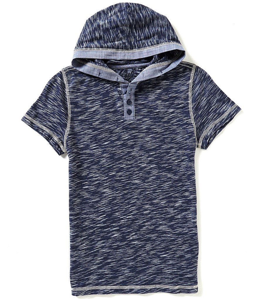 First Wave Big Boys 8-20 Hooded Henley Shirt