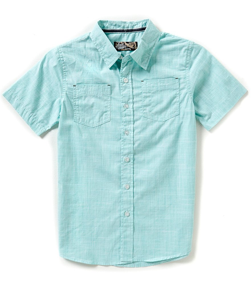 First Wave Big Boys 8-20 Crosshatch Woven Shirt