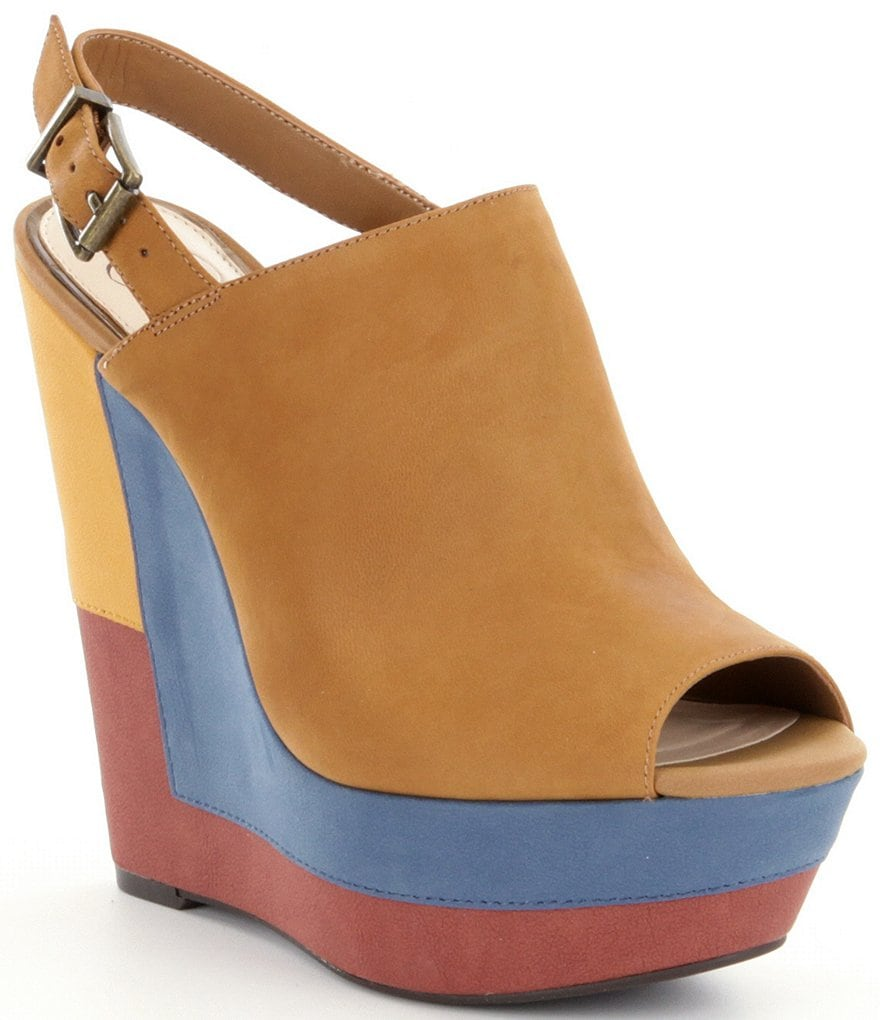 Jessica Simpson Radina Peep Toe Wedges