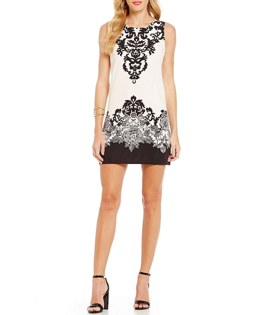 Teeze Me Scroll Print Shift Dress