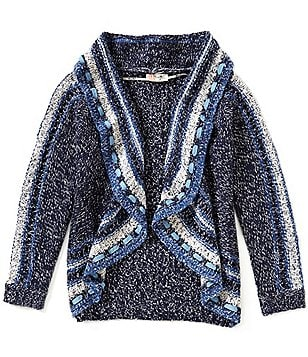 Miss Me Girls Big Girls 7-16 Open-Drape Cardigan