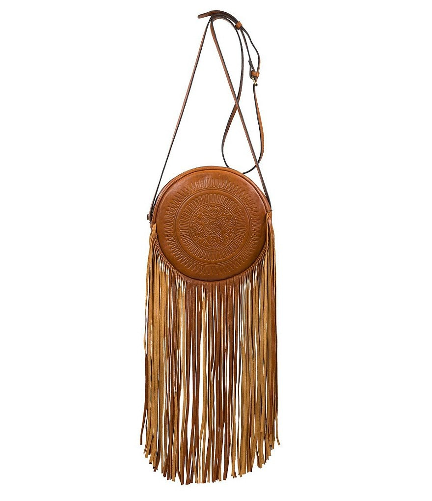 Patricia Nash Soft Veg Fringe Collection Rovito Round Cross-Body Bag