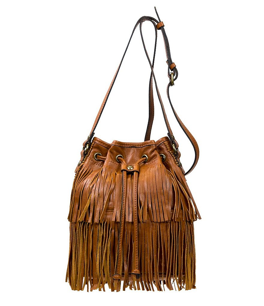 Patricia Nash Soft Veg Fringe Collection Bronte Bucket Bag