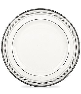 kate spade new york Palmetto Bay Striped Platinum Bone China Bread & Butter Plate Image