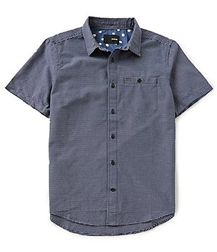 Hurley Fairfield Point Collar Short Sleeve Button-Front Shirt
