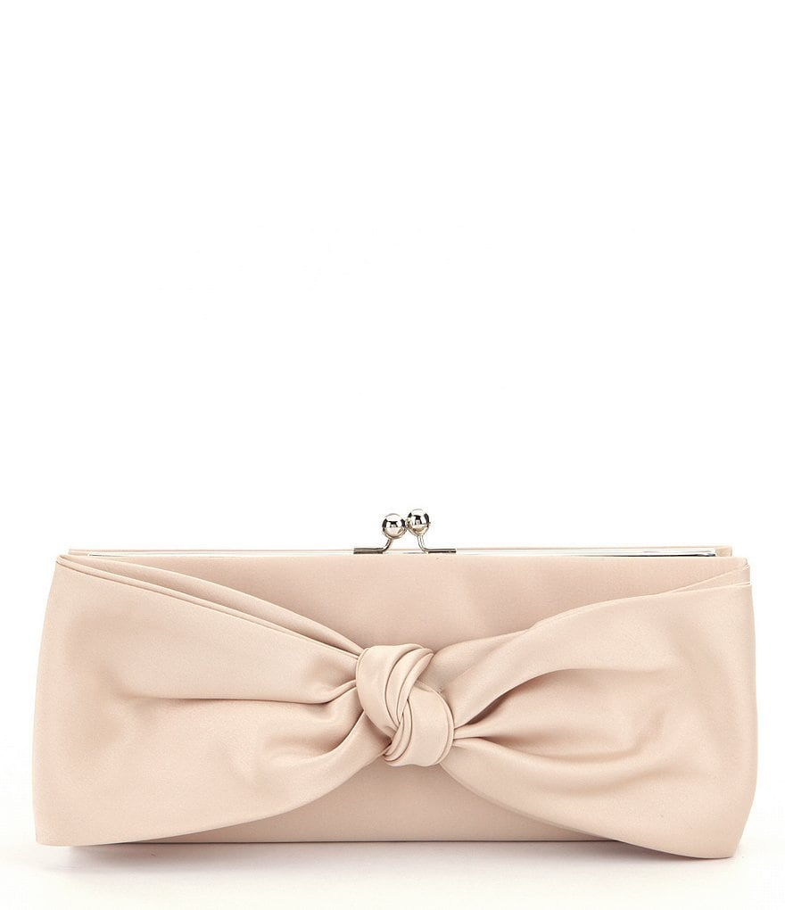 Kate Landry Satin Bow Frame Clutch