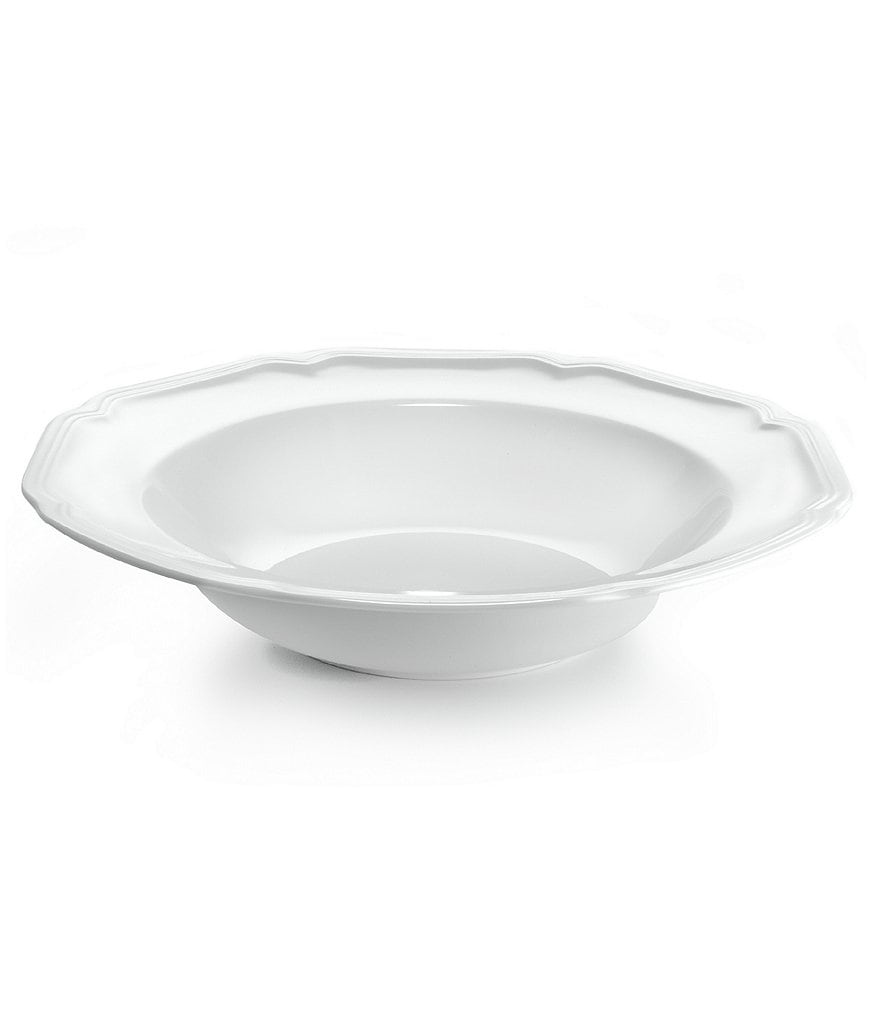 Mikasa Antique White Porcelain Soup Bowl