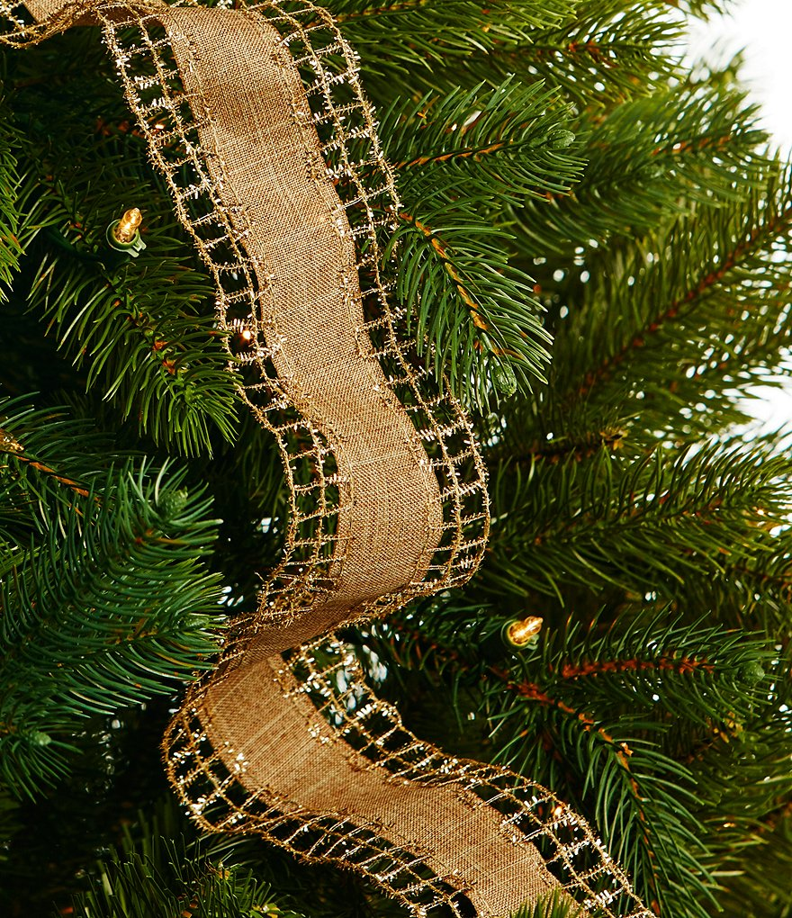 Trimsetter Gold Net & Faux-Linen Ribbon