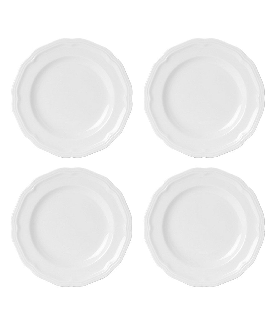 Mikasa Antique White Porcelain Bread & Butter Plates, Set of 4