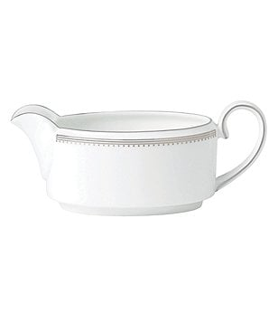 Vera Wang by Wedgwood Grosgrain Striped & Dotted Bone China Gravy Boat or Stand
