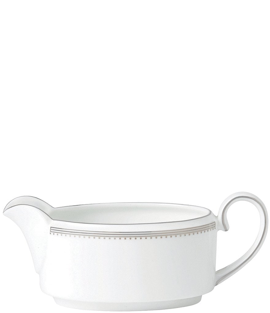 Vera Wang by Wedgwood Grosgrain Striped & Dotted Bone China Gravy Boat