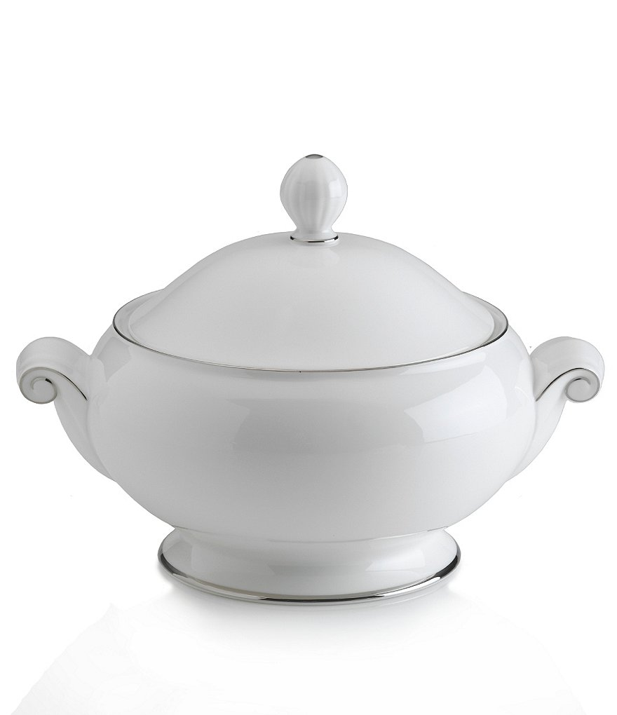 Mikasa Cameo Platinum Porcelain Covered Casserole