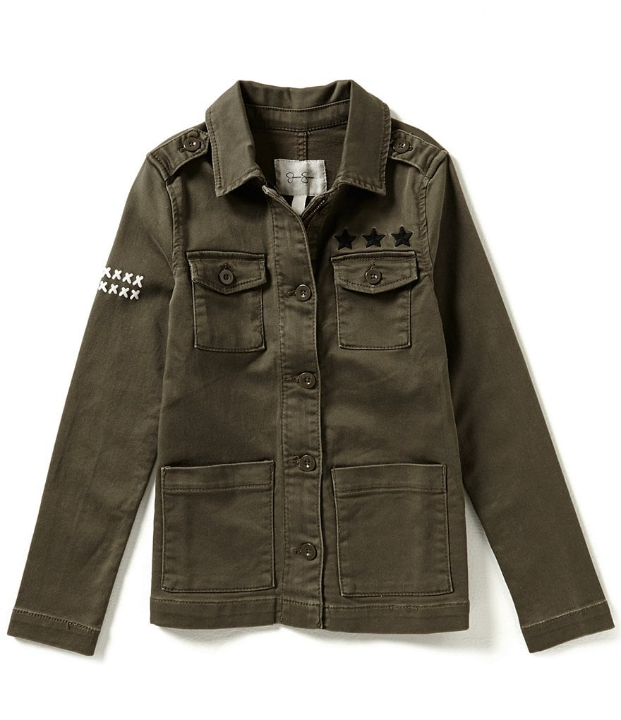 Jessica Simpson Big Girls 7-16 Officer Jacket
