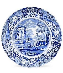 Spode Blue Italian China Soup Plate Image