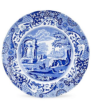 Spode Blue Italian China Soup Plate