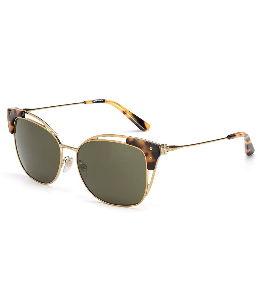 Tory Burch Modern Wire Square Sunglasses