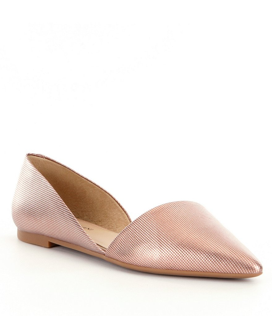 Antonio Melani Metallic d´Orsay Pointed Toe Flats