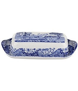 Spode Blue Italian Covered Butter Dish Image