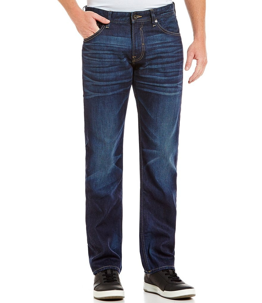 Guess Harden Regular Straight-Fit Whiskered Jeans