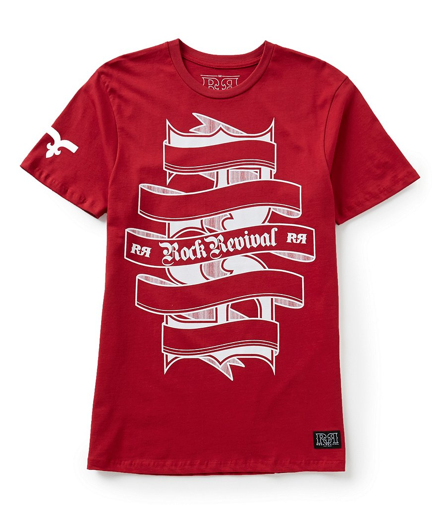 Rock Revival Ribbon Logo Graphic Short-Sleeve Tee