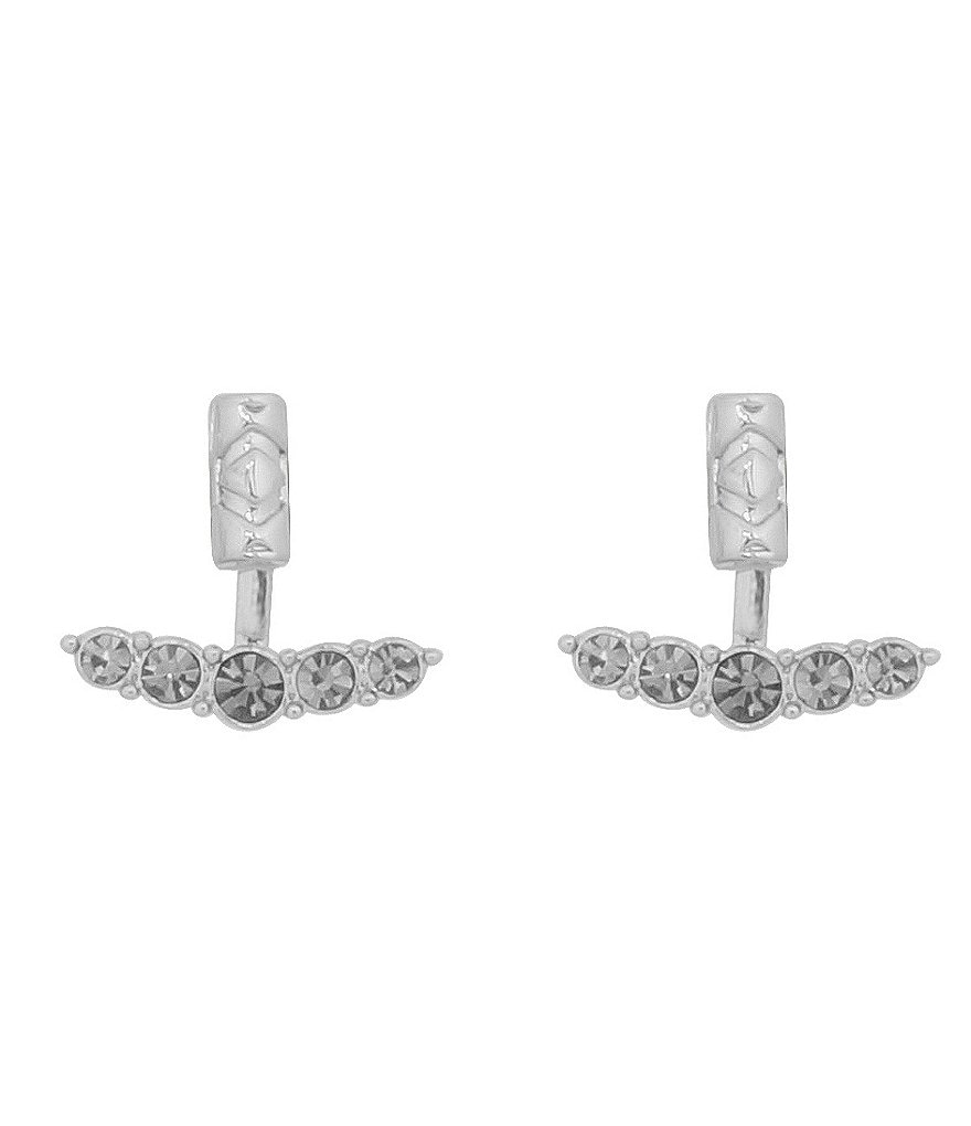 House Of Harlow 1960 Iconic Crystal Etched Ear Jacket Earrings