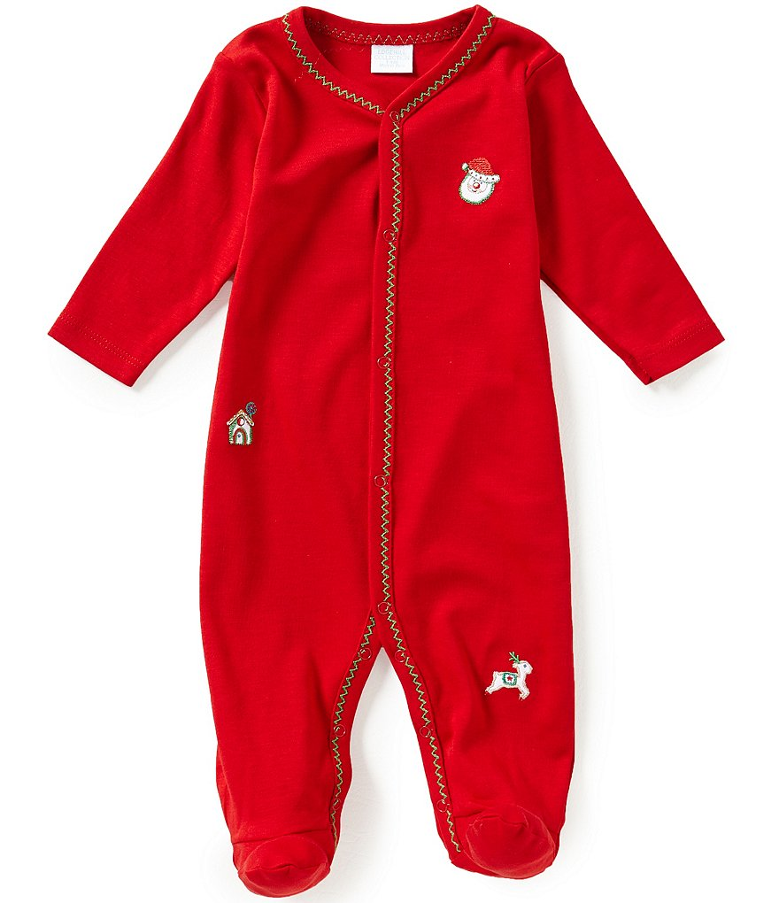 Edgehill Collection Baby Boys Newborn-6 Months Christmas Embroidered Coverall