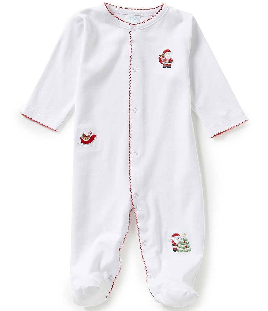 Edgehill Collection Newborn-6 Months Christmas Embroidered Coverall