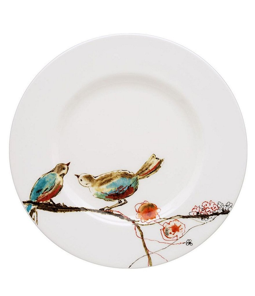 Lenox Chirp Bird & Floral Bone China Salad Plate