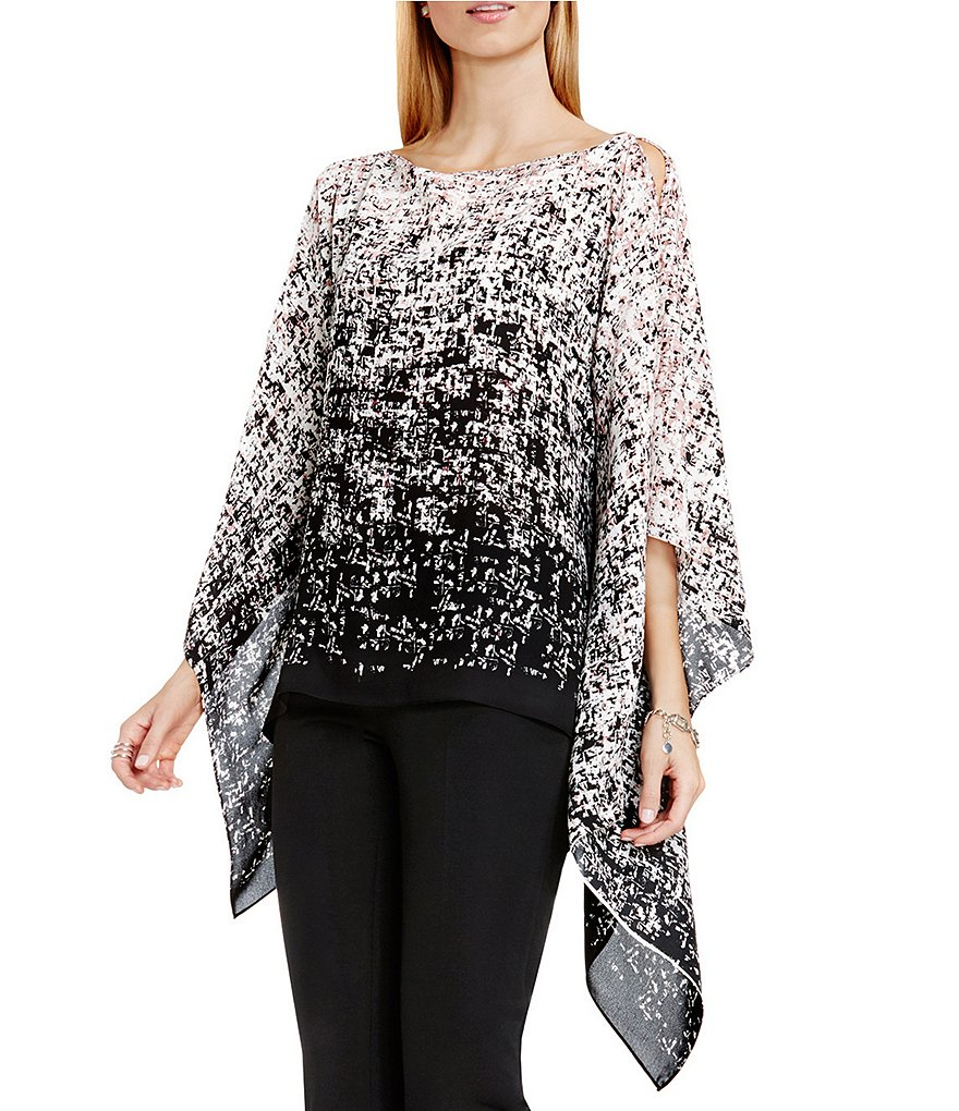 Vince Camuto Shadow Textures Poncho