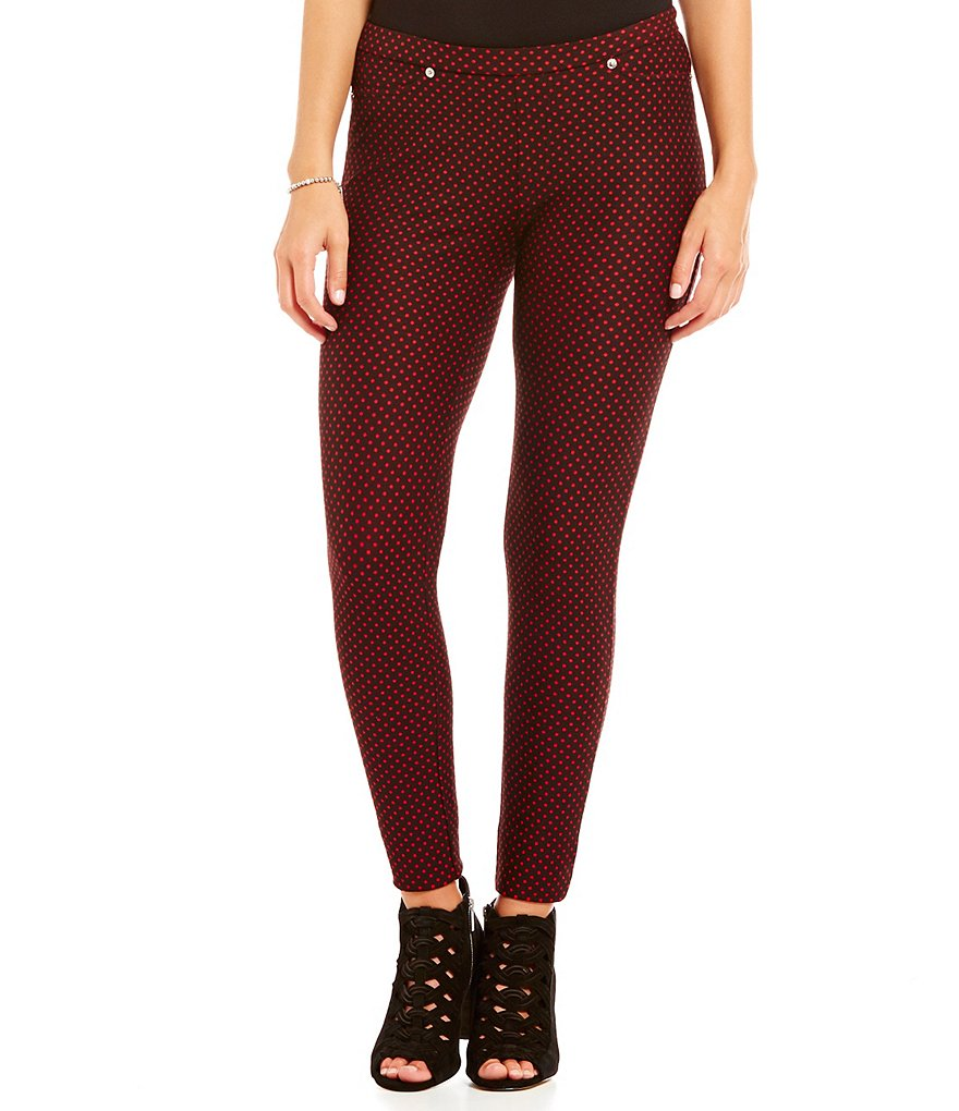 MICHAEL Michael Kors Bungalow Dot Print Stretch Twill Knit Leggings
