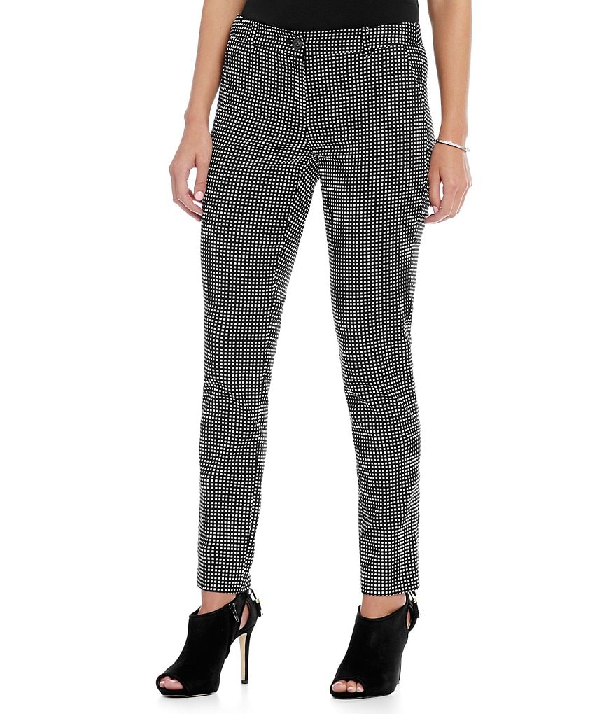 MICHAEL Michael Kors Geometric Dot Print Miranda-Fit Pants