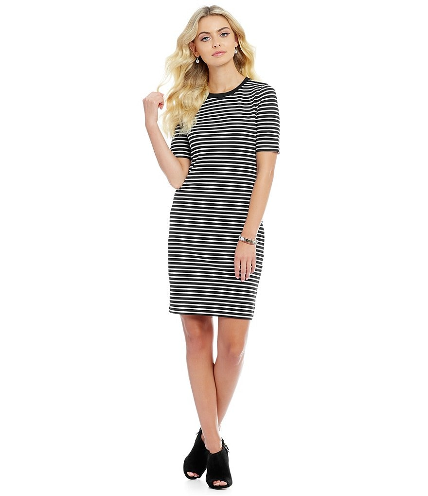 MICHAEL Michael Kors Stripe Ponte Knit Sheath Dress
