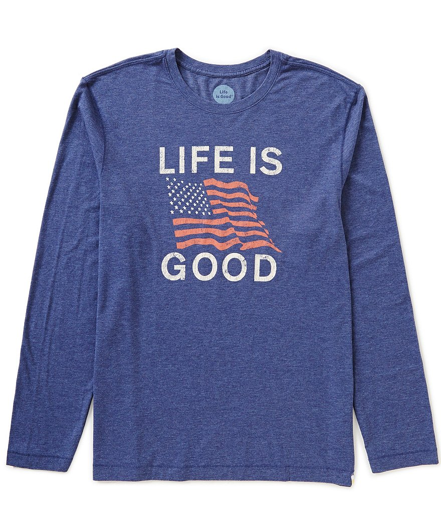 Life Is Good Classic Fit Long-Sleeve Cool Graphic Tee