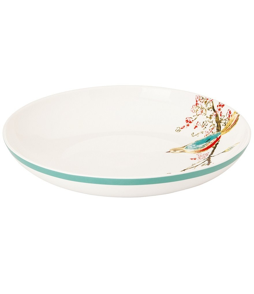 Lenox Chirp Floral & Bird Bone China Pasta/Soup Bowl