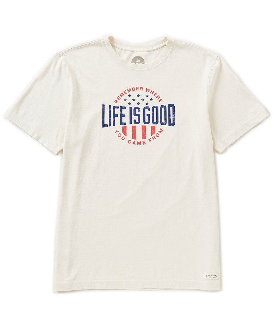 Life Is Good Classic-Fit Short-Sleeve Crusher Graphic Tee