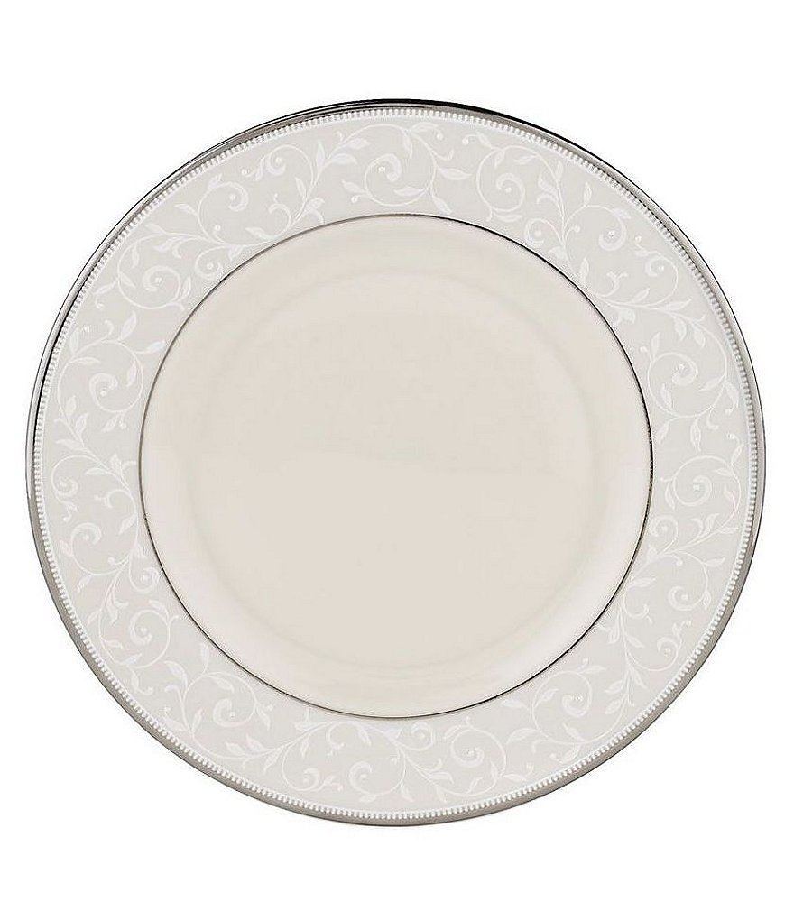 Lenox Pearl Innocence Vine & Pearl Platinum Bone China Salad Plate