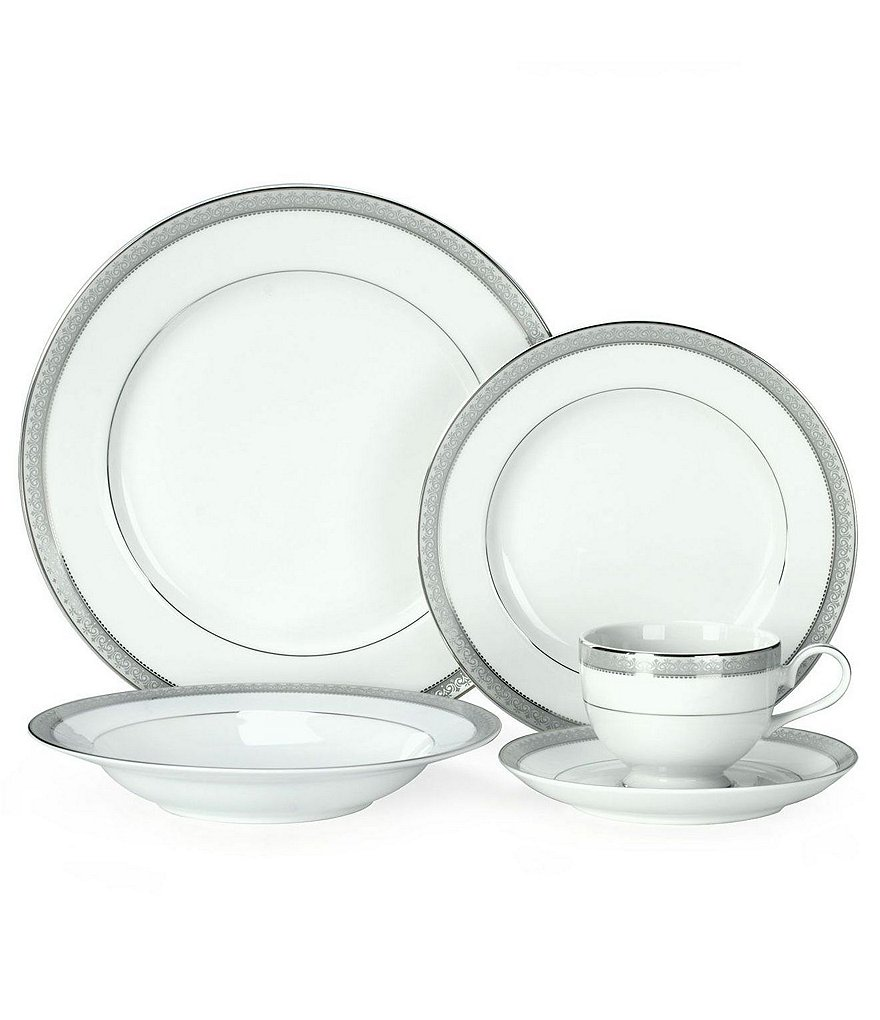 Mikasa Platinum Crown Filigree 5-Piece Place Setting