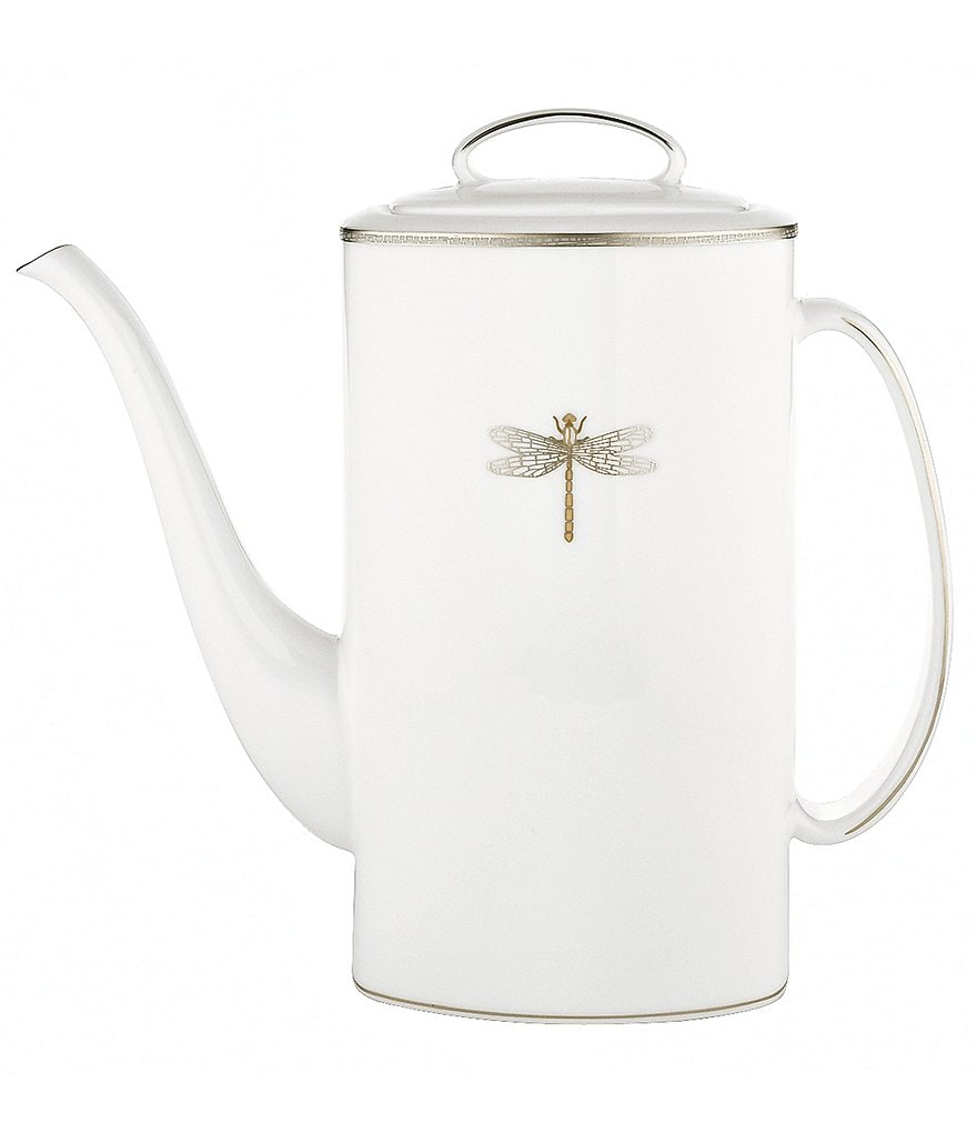 kate spade new york June Lane Dragonfly Platinum Bone China Coffeepot