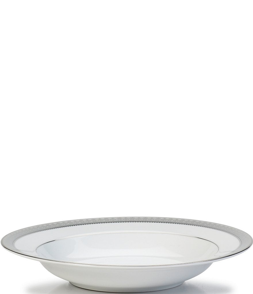 Mikasa Platinum Crown Filigree Platinum Porcelain Soup Bowl